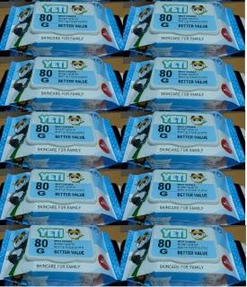 Combo 9 gói khăn ướt Jeti 80g, Không mùi, Hàng xuất Thái, Giá Siêu Tiết Kiệm thumbnail