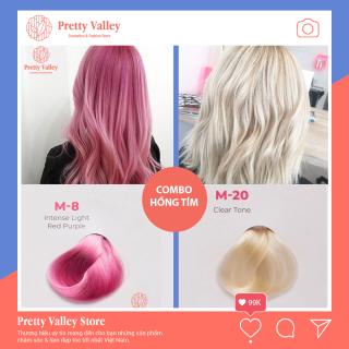 Combo thuốc nhuộm tóc màu hồng tím Molokai M8(1 màu tẩy và 1 màu hồng tím) - Pretty Valley thumbnail