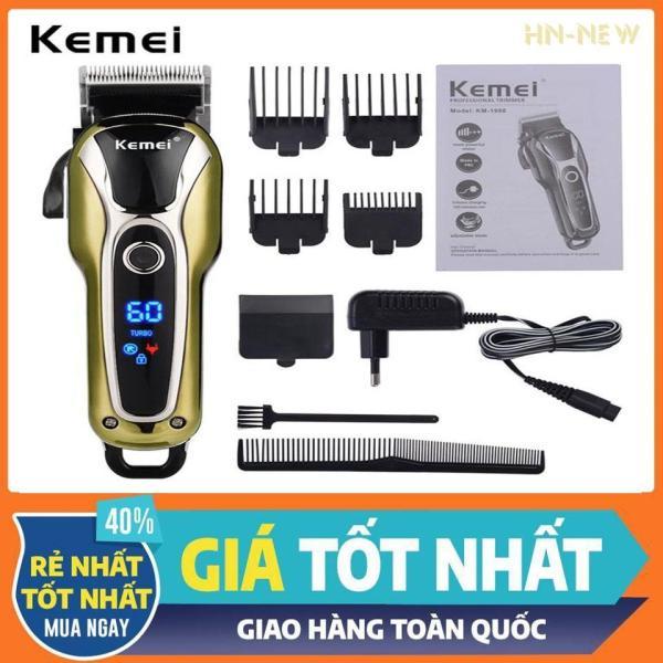Tông đơ cắt tóc trẻ em,tông đơ hớt tóc cho người lớn và gia đình,Tông đơ Không Dây Chuyên Nghiệp Kemei KM-1995 giá rẻ hơn jichen,codos,xiaomi,philips,fade(Màu đen)