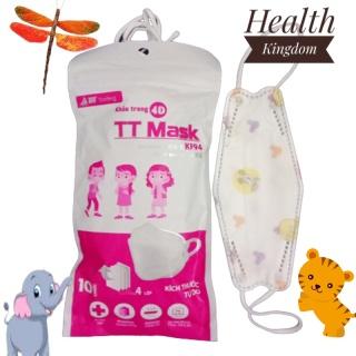 Khẩu trang Y tế TT KF94 KIDS cho trẻ em 0 tuổi đến 5 tuổi thời trang phong cách Hàn Quốc Health Kingdom, 10 chiếc bịch thumbnail