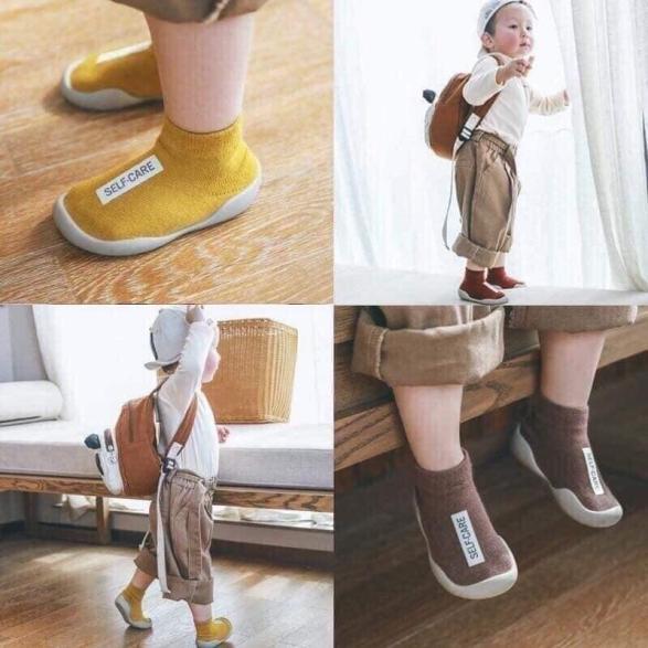 Giày bún đế mềm cao cổ siêu xinh cho bé(giao màu ngẫu nhiên) giá rẻ
