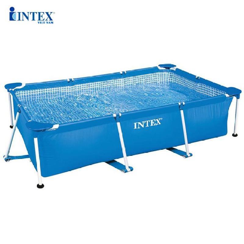 Bể bơi phao khung kim loại chữ nhật INTEX 28270 - Hồ bơi lắp dựng, Bể bơi gia đình