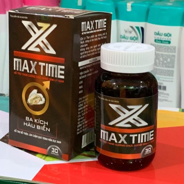 Max Time Tinh Chất Ba Kích, Hàu Biển- Giúp Bổ Thận Tráng Dương , Tăng Cường Sinh Lý- Hộp 30 Viên - HSD 2022
