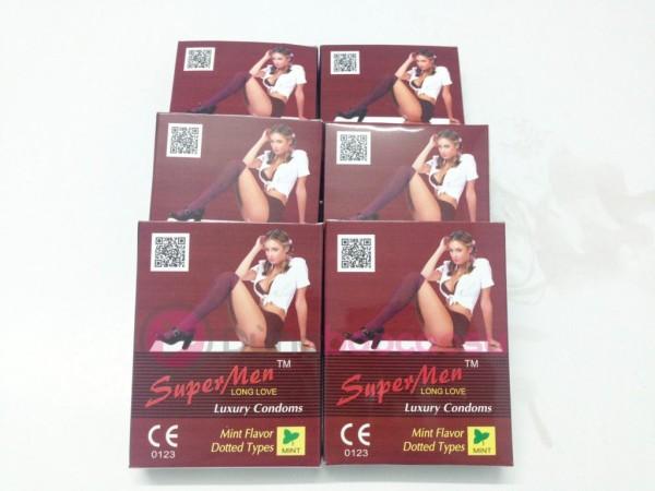 Combo 6 hộp SuperMen mùi hương, gai (60 chiếc)