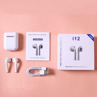 Tai nghe bluetooth i12 TWS phiên bản nâng cấp tai nghe âm thanh 8D, tai nghe i12 s nút điều khiển cảm ứng, mở nắp tự kết nối, tương thích với mọi hệ điều hành 8