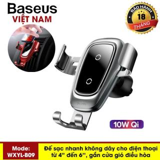 Sạc không dây cao cấp trên xe hơi Baseus công suất 10W cho iPhone XS Max XR Samsung S9, Note 9 hỗ trợ sạc nhanh và giữ chắc điện thoại thông minh - Phân phối bởi Baseus Vietnam thumbnail