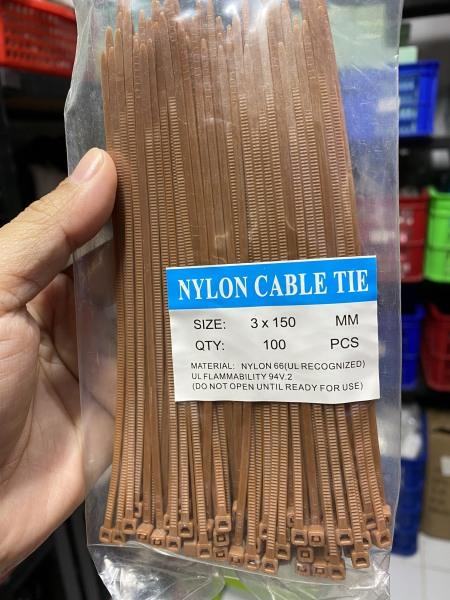 [HCM]Dây rút nhựa màu nâu đậm 2.5x150mm
