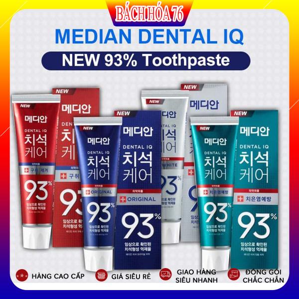 Kem đánh răng Median Dental IQ 93% Hàn Quốc 120g Nhập Khẩu Chính Hãng