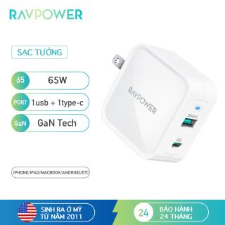 Củ sạc USB C RAVPower RP-PC133 PD Pioneer 65W GaN Tech thumbnail