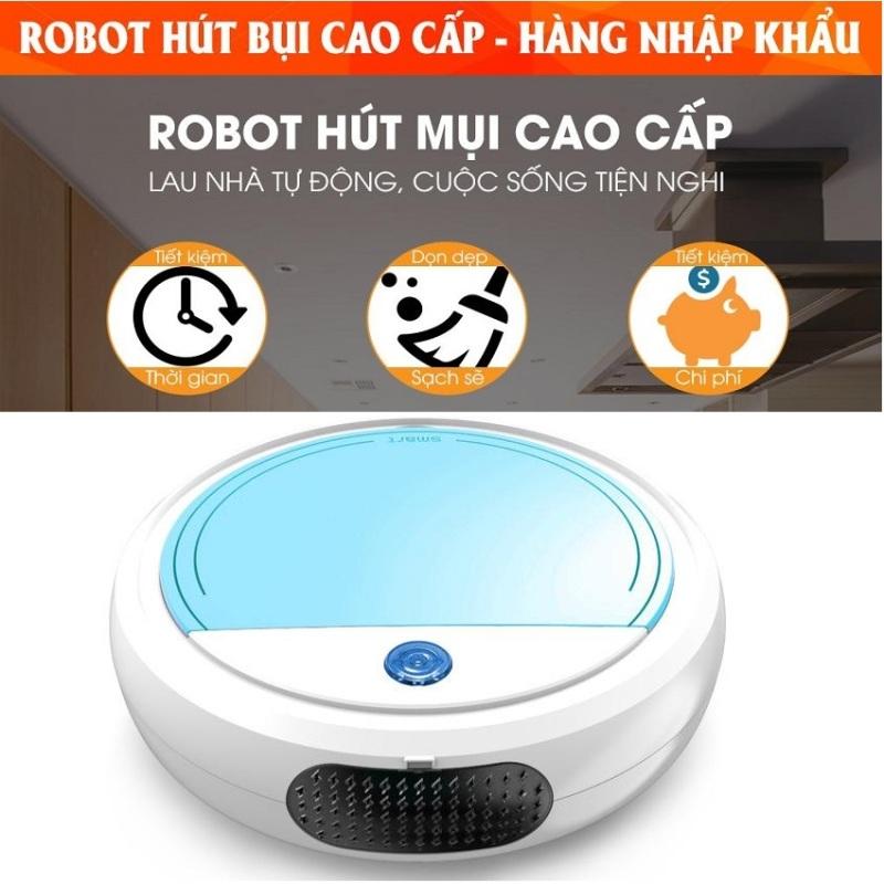 Robot Hút Bụi Tốt Có Màng Lọc Tự Động Phát Hiện Các Đồ Nội Thất, Dễ Dàng Làm Sạch Các Vị Trí Khó Như Gầm Giường, Tủ, Gầm Ghế Sofa - Chỉ Số Độ Ồn Cực Thấp, Robot Vận Hành Êm Ái . Bảo Hành 1 Đổi 1.Dung Lượng Pin Sử Dụng Tr�