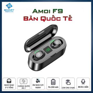 Tai nghe Bluetooth không dây Amoi F9 - Nghe nhạc hay - Bass Treble Mid ổn - Chống nước IP67 - Cảm ứng chạm - Có mic - Đồng hồ LED hiển thị thumbnail