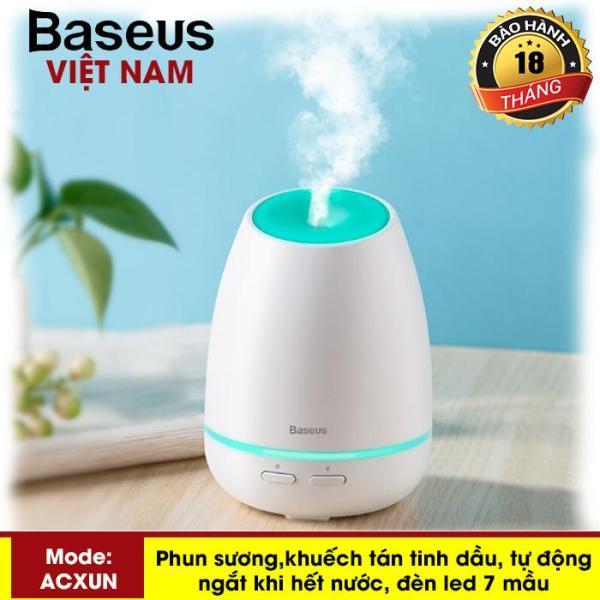 Máy phun sương, tạo ẩm, khuếch tán tinh dầu Mini Baseus Creamy  - đèn Led 7 mầu - Phân phối bởi Baseus Global