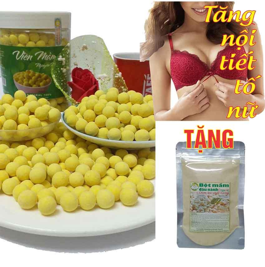 [1KG] Viên Mầm Đậu Nành Nguyên Xơ (Tặng 100G bột mầm đậu nành)