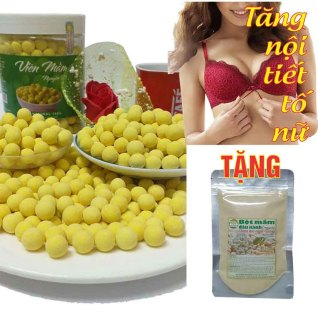 [1KG 2 hô p] Viên Mầm Đậu Nành Nguyên Xơ (Tặng 100G bột mầm đậu nành) thumbnail