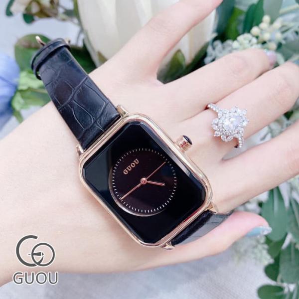 [RẺ VÔ ĐỊCH] Đồng hồ Nữ GUOU Dây Mềm Mại đeo rất êm tay - Kiểu Dáng Apple Watch 40mm bán chạy