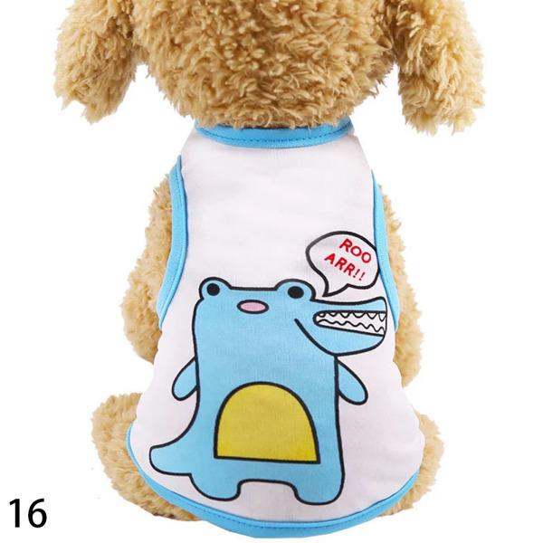 16 Phim hoạt hình Puppy Quần áo mùa thu Mùa đông ấm áp Chó mèo Áo len Pet Quần áo