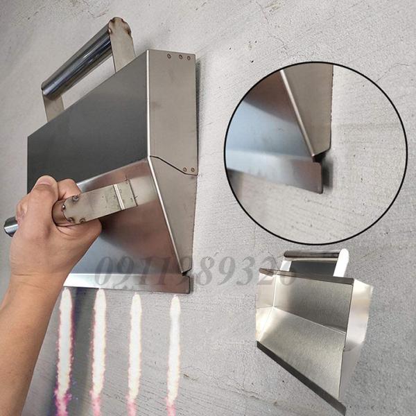 Máng trát tường inox tiết kiệm thời gian công sức - Máng trát vữa trát xi măng siêu tốc