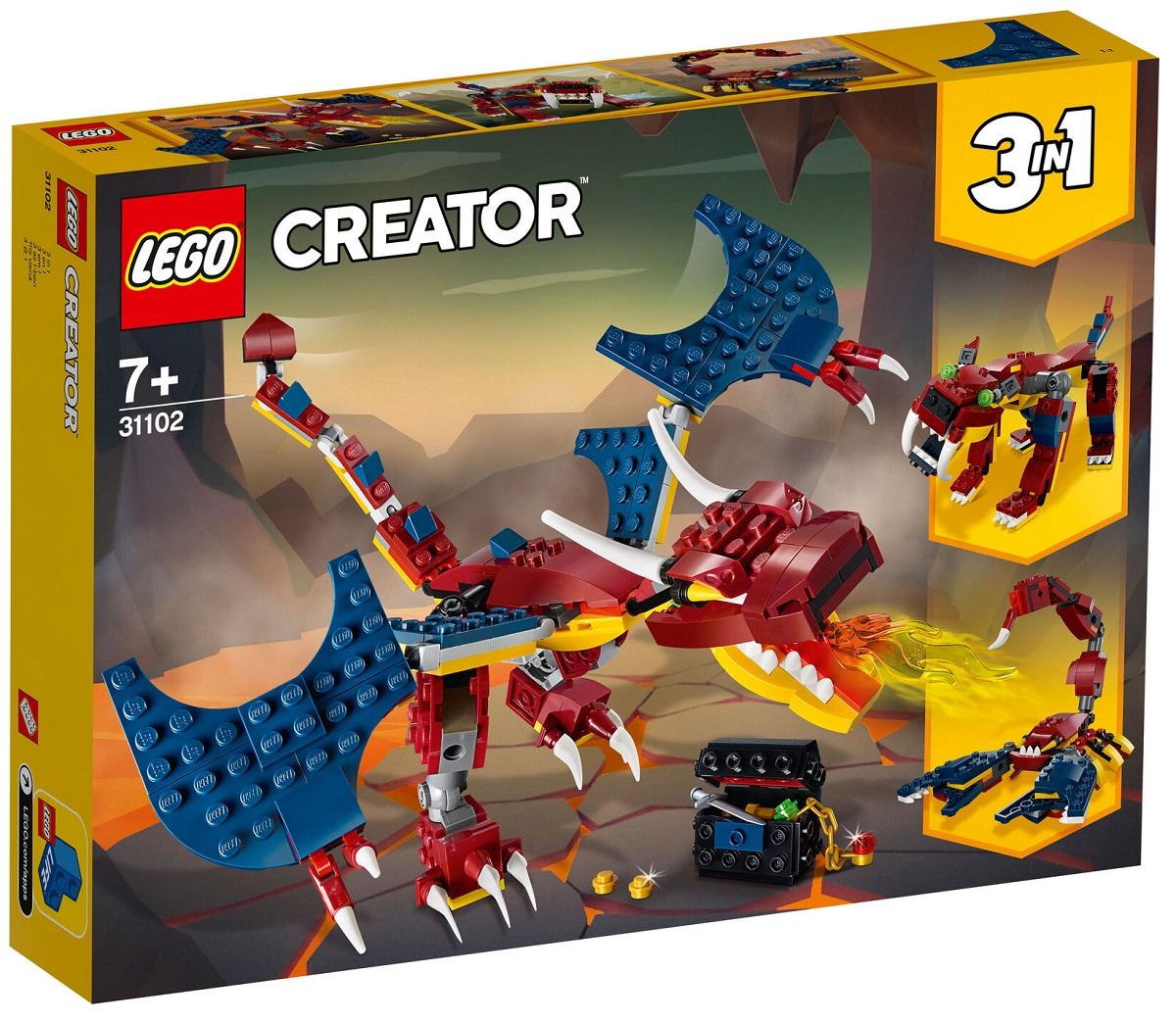 Hot Deal Khi Mua Bộ Lắp Ráp Rồng Lửa - LEGO Creator 31102 (234 Chi Tiết)