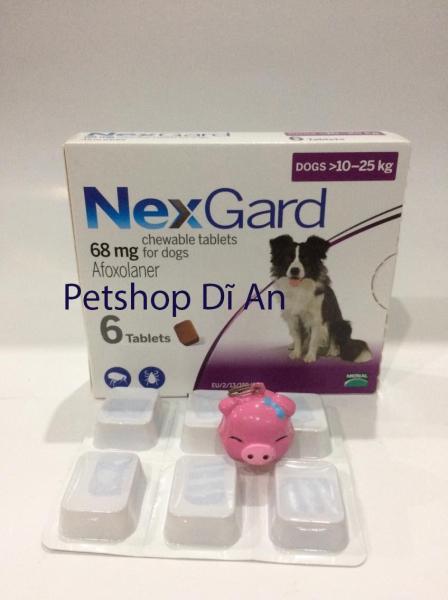 Một viên NexGard trị ghẻ, xà mâu, ve, bọ chét cho chó 10 - 25 kg