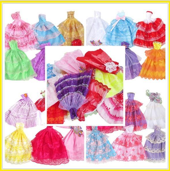 Voucher Khuyến Mãi Bộ 5 Bộ Váy Dạ Hội Xinh Xắn Cho Búp Bê 29cm