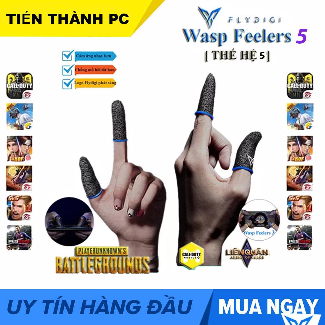 [THẾ HỆ 5 ] Flydigi Wasp Feelers 5 Găng tay chơi game PUBG, Liên quân, chống mồ hôi tốt hơn, nhạy hơn, in nhiệt 3M mới