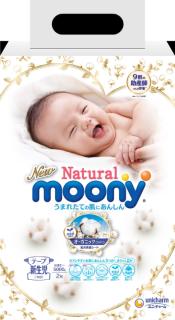 [Gía dùng thử] Tã Bỉm dán cao cấp Moony Natural size NB 2 miếng (dưới 5kg) thumbnail