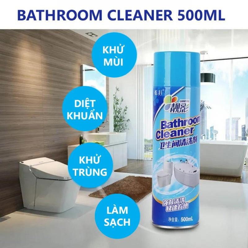 Chai Xịt Tẩy Rửa Vệ Sinh Nhà Tắm, Bathroom Cleaner, Hiệu Quả, Dễ Sử Dụng, Chai Tẩy Rửa Vệ Sinh, Công Nghệ Tẩy Rửa Cực Mạnh