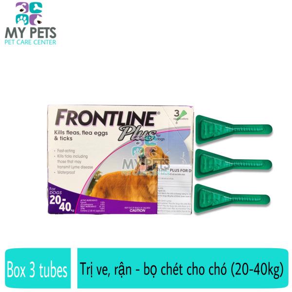 Frontline Plus nhỏ gáy hết ve rận, bọ chét cho chó (size 20-40kg) - Hộp 3 tuyp. ( 3 tubes. Full box)