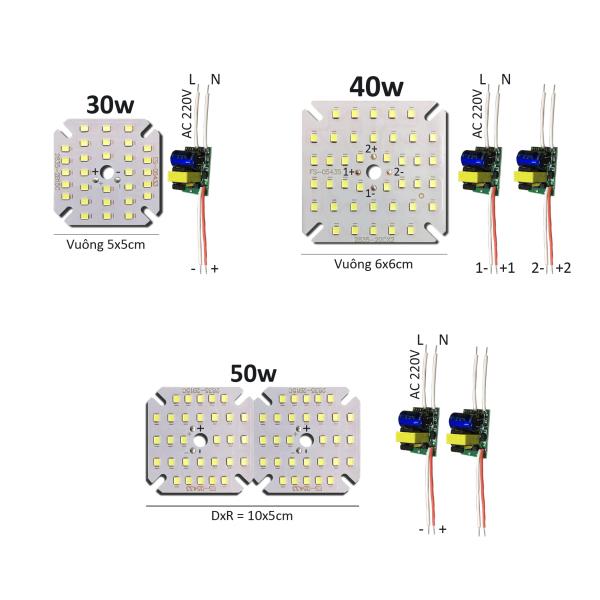 Bảng giá Bảng bo vỉ mạch Led 30w 40w 50w mắt chip Led 2835 siêu sáng +nguồn driver AC220V MLC-30-50x