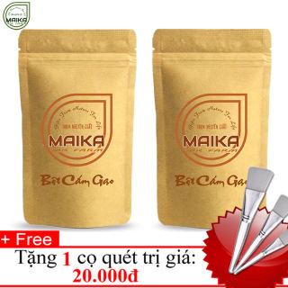 Combo 2 Bột Cám Gạo Nguyên Chất MK Farm (50gr/túi) + Tặng Cọ Quét