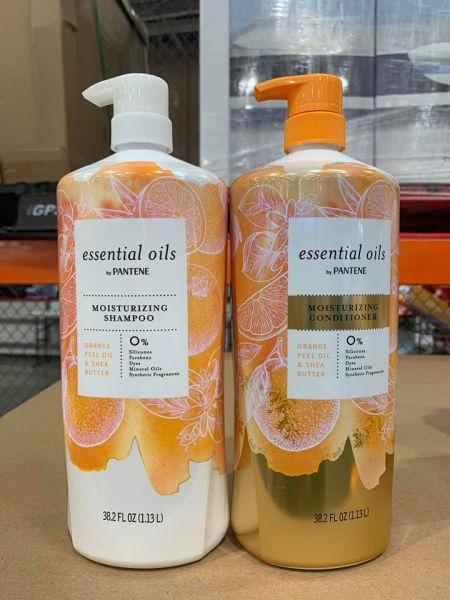 Dầu xả Pantene Essential Oils Moisturizing Shampoo 1.13L (Chai)