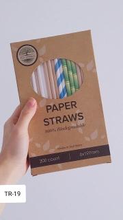 Hộp 200 ống hút giấy [nhiều màu], 6mm 200mm thumbnail