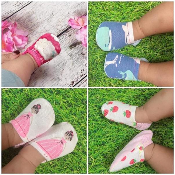 [HÀNG ĐẸP GIÁ SỐC] Combo 5 đôi giày vải cotton mùa bè cho bé trai, bé gái - BUBY giá rẻ