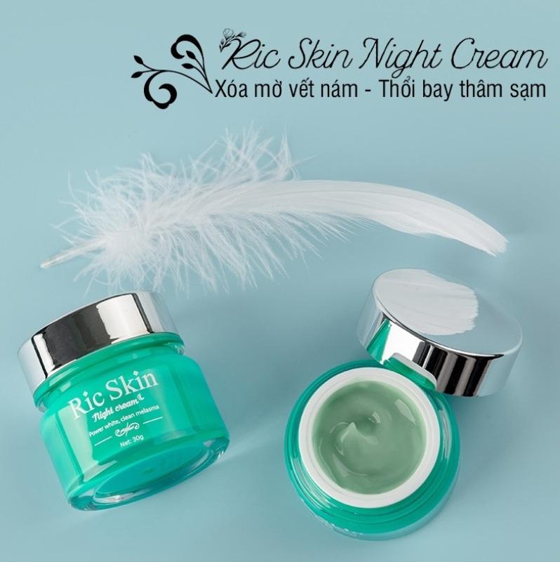 Kem Nám Đêm Ric Skin - Dưỡng Trắng, Ngừa Thâm, Nám, Nếp Nhăn nhập khẩu