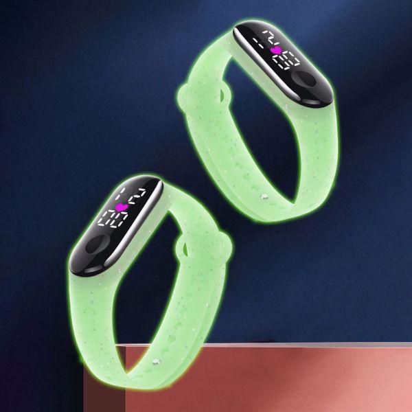 Nơi bán FDGRE Có thể điều chỉnh Không thấm nước Quà tặng trang sức Phụ nữ Màn hình kỹ thuật số LED Những cậu bé Đồng hồ kỹ thuật số dành cho trẻ em Đồng hồ đeo tay phong cách Hàn Quốc Vòng đeo tay chạy bộ Đồng hồ điện tử p