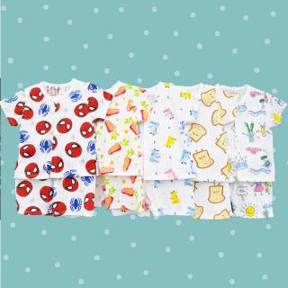[CÓ CẬP NHẬT MẪU MỚI] Bộ cotton giấy màu sắc áo cộc tay khuy giữa phối quần đùi cho bé trai và bé gái 2-13kg chất thun co giãn thông thoáng BBShine BVN001 thumbnail