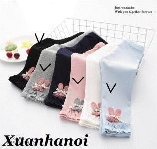 Size Đại 7-13T(20-40kg) Quần dài, quần legging cotton len nơ thỏ cho bé gái XHN406 thumbnail