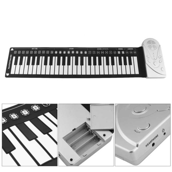 Đàn piano cho bé, Đàn Trẻ Em Điện Tử, Đàn piano điện tử bàn phím cuộn dẻo mini  49 keys (Trắng) cho trẻ, Loa Trong Với Âm Thanh Ngọt Ngào Sở Hữu Mạch Điện Tử Thông Minh, Nhạy Bén.