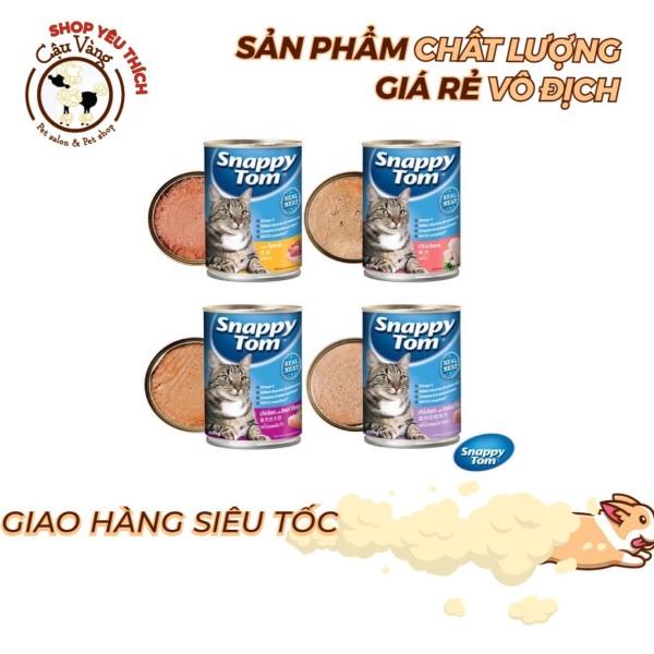 Thức Ăn Cho Mèo Pate Lon Snappy Tom 400Gr - Đủ Vị | Pate Snappy Tom Thái Lan