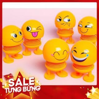 [ Super sale ] Combo 10 thú nhún Emoji lò xo lắc đầu mặt cười siêu dễ thương- Trang trí xe ô tô, để bàn làm việc- Giảm stress thumbnail