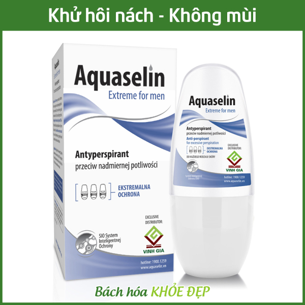 Aquaselin for men 50ml Lăn khử mùi không mùi cho nam - Dùng cho mọi loại da