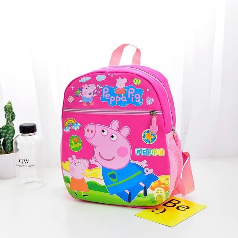 Giá bán Balo đi học đi chơi cho bé hình nhân vật hoạt hình Pepapig, balo di hoc di choi cho be hinh nhan vat hoat hinh Pepapig