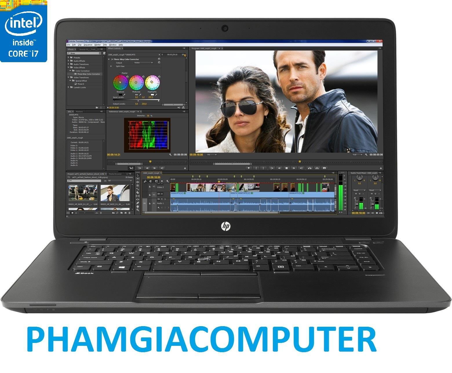 Laptop Máy trạm Hp  Zbook 15 Core i7 4700MQ (8cpus) Ram 16G SSD 480G  VGA Quadro K1100 Chuyên đồ hoạ, Game GTA5- Tặng Balo, chuột wireless-Hàng nhập khẩu