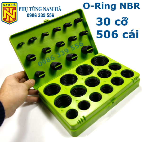 Hộp gioăng sim cao su thay thế chịu dầu NBR chịu nhiệt 30 cỡ size 506 cái vòng