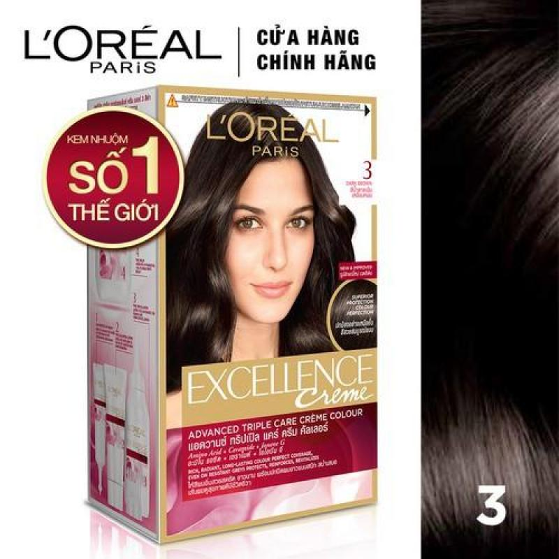 (Đủ màu) Màu nhuộm tóc phủ bạc LOreal Paris Excellence Creme 172ml nhập khẩu