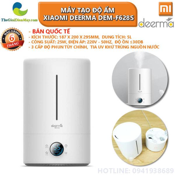[Bản quốc tế] Máy tạo độ ẩm không khí thông minh Xiaomi Deerma DEM-F628S dung tích 5L, đèn UV làm sạch nguồn nước - Bảo hành 6 tháng - Shop Thế Giới Điện Máy