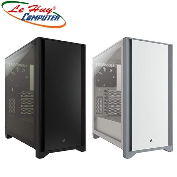 Bảng giá Vỏ Case Máy Tính Corsair 4000D Tempered Glass Black/White - Cc-9011198-Ww Phong Vũ