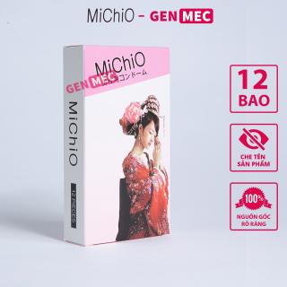 Bao cao su Siêu Mỏng - Chống Xuất Tinh Sớm - BCS Michio Hộp 12 cái - GenMec thumbnail