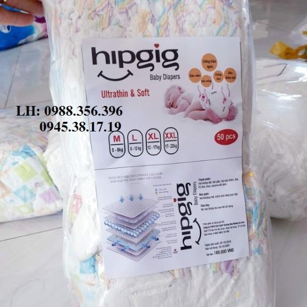 50 miếng tã quần Hipgig xuất nhật cao cấp
