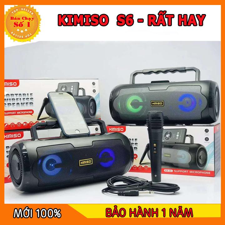 [KIMISO S5] Loa Kẹo Kéo KIMISO Có Mic Hát Karaoke Nghe Nhạc Bluetooth, Loa bluetooth, loa kraoke cắm thẻ nhớ, nghe đài FM Siêu Hay - Tặng kèm Mic